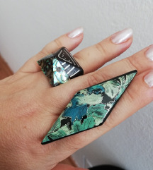 Drveni prsten i broš