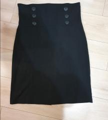 Suknja visokog struka s gumbima