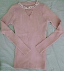 Nova roza majica pearl bead