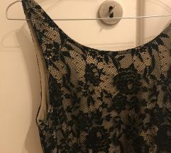S. Oliver crna svečana čipkasta haljina
