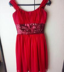 Tamnocrvena svečana haljina