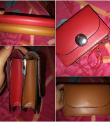 Stradivarius torbica sa dva lica crveno/smeđa