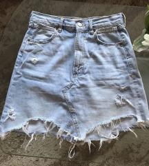 Zara jeans suknja 36
