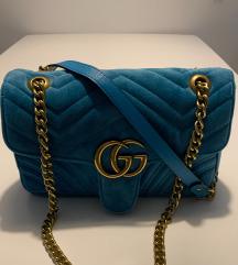 Gucci Marmont Velvet Blue