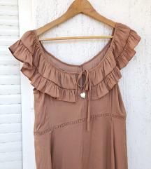 TWINSET original zlatna midi haljina