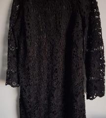 Nova Mohito crna čipkasta haljina
