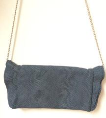 Siva clutch torbica