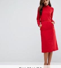 Re:Dream Tall High Waist Midi Pencil Skirt Pockets