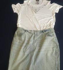LOT jeans suknja & majica