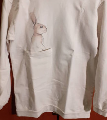 Majica bijela print zeko