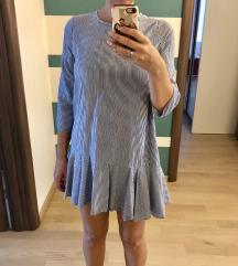 Zara haljina tunika, m, s volanom