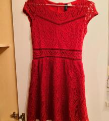 Crvena svečana haljina - čipka