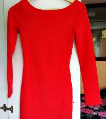 Crvena uska mini haljina  % SNIŽENO 80 kn %