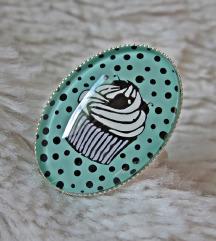 Prsten ''Mint cupcake'' (ručni rad)