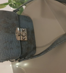 My lovely bag kožna tamnoplava torbica
