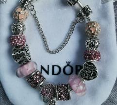 Pandora narukvica, ključ/srce, nova!