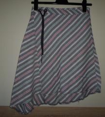 Mango asimetrična lanena suknja vel.40