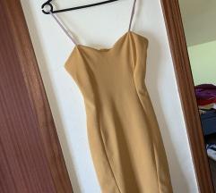 Žuta uska haljina