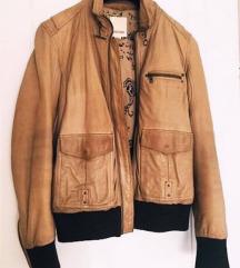 DIESEL kožna jakna- 100% kravlja koža