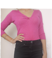 Roza majica vel 34