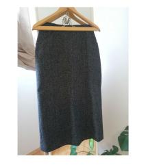 Vintage duga topla suknja