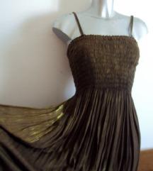 smeđa ljetna haljina