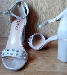 2 sandale bež/crne