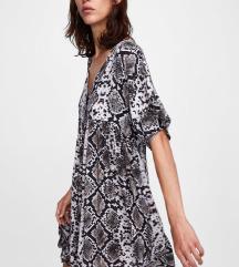 Zara haljina zmijski uzorak