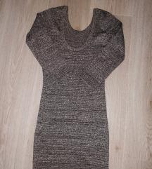 Siva svjetlucava haljina S