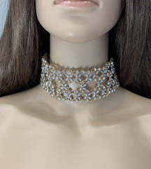 choker kristalna ogrlica