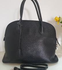 Velika crna kozna torba