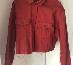 PULL&BEAR crvena traper jakna
