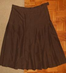 tamno smeđa suknja na falde (PT dijelimo)