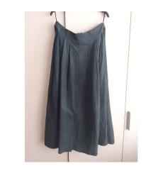 Kožna zelena suknja