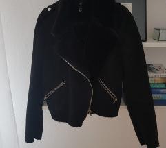 Zara jakna s krznom i brušenom kožom
