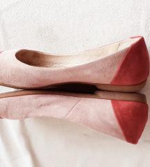 Peko pink-roza kožne balerinke