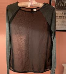 Nova H&M majica prozirna crna siva