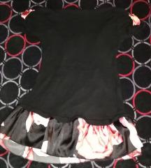 Bluza kratkih rukava s 2 materijala vel S