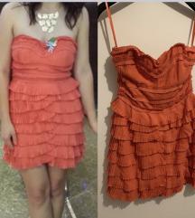 HM narančasta haljina
