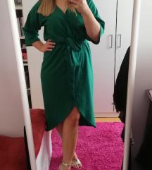 Zelena haljina kimono