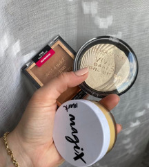 lot bronzer, highlighter i banana puder