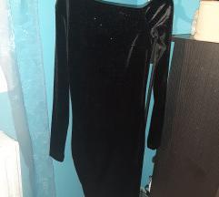 Haljina crna s šljokama