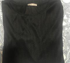 Zara crna majica dugi rukav