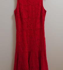 Svečana čipkasta crvena haljina