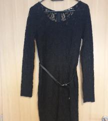 Čipkasta crna haljina