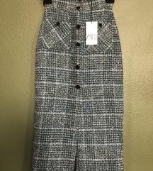 Zara tweed suknja