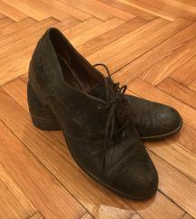 Kožne cipele oksfordice crne