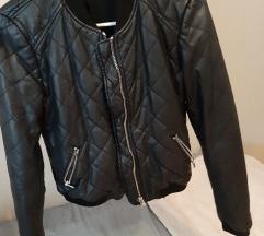 ZARA crna kožna jakna