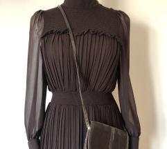 Nova Zara plisirana haljina i kroko torbica