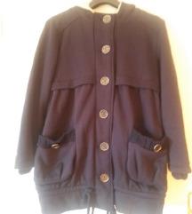 Tamnoplava jakna  s kapuljačom